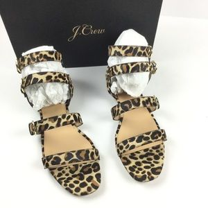 J. Crew NEW Collection Leopard Gladiator Sandals
